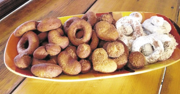 "Based on a recipe in ""The Sanitary Fair Cookbook Bangor 1864,"" Laurel McFarland of Cheryl Wixson's Kitchen prepared these delicious doughnuts. McFarland pepared each recipe found in the book and updated it for the modern cuisine."