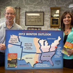 Cold winter predicted by Farmers' Almanac