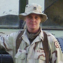 Staff Sgt. Jessica M. Wing, 42, who died Monday, Aug. 27, 2012, in Kuwait in a non-combat related incident, is seen in a 2005 photo.