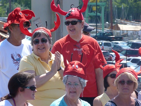 The crowd watches the Maine Lobster Festival parade on Saturday, Aug. 4, 2012.