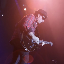 Guitarist Neal Schon of Journey rocks out during the band's concert on the Bangor Waterfront on Friday, Sept. 28, 2012.