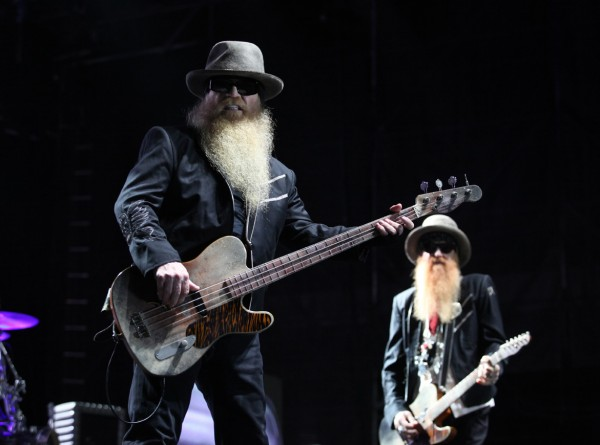 Dusty Hill (left) and Billy Gibbons (right) of ZZ Top perform Friday Sept. 7, 2012, at Scarborough Downs in Scarborough, Maine.