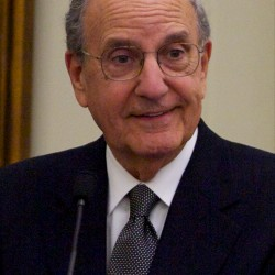 Former Senator George Mitchell at the investiture ceremony for new district judge Nancy Torresen May 3, 2012 in Portland.