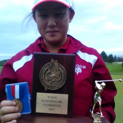 Grindle achieves goal with state golf title; Hwang, Caron, McFarlane also win