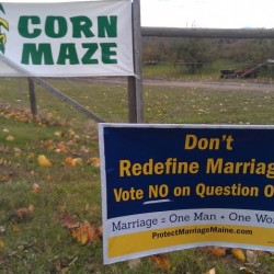Same-sex marriage debate turned nasty over a sign near an orchard