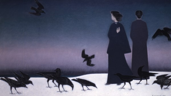 &quotWinter Sky,&quot oil on canvas, by Will Barnet.