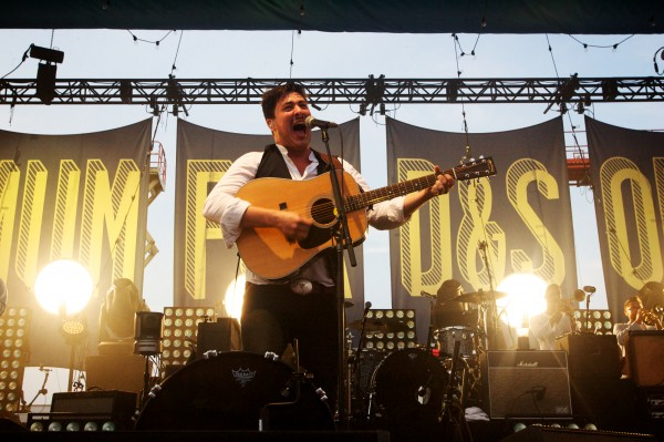 Marcus Mumford of Mumford & Sons sings in August during the band's &quotGentlemen of the Road&quot tour stop on Portland's Eastern Promenade.