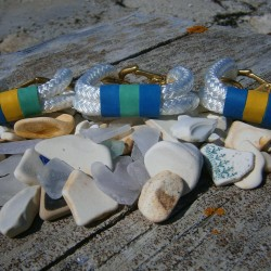Bracelets from Maine Dock Designs, created by Deb Neuman.