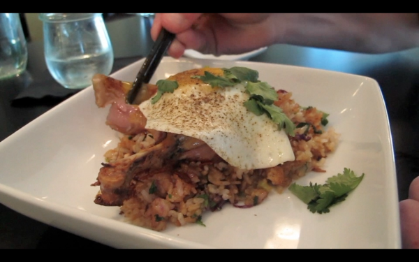A plate of duck confit fried rice at Tao in Brunswick.