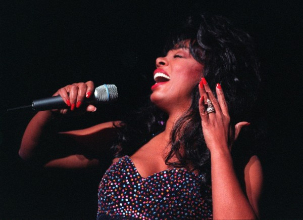 Donna Summer performs at the Universal Amphitheatre in Los Angeles, Calif., Aug. 4, 1995. The Queen of Disco died May 17, 2012 in Florida after a battle with cancer. She was 63.