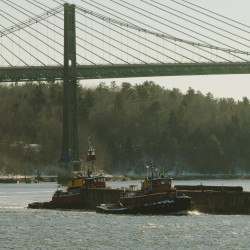Waldo-Hancock Bridge nearly gone after last suspension cables plunge into Penobscot River