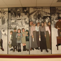 Labor mural unveiled at new home, the Maine State Museum in Augusta