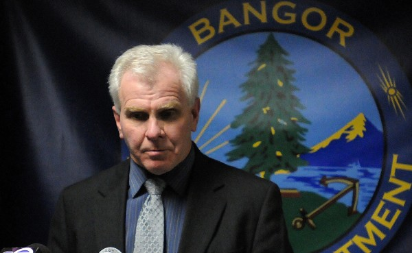 Lt Timothy Reid of the Bangor Police Department speaks during a press conference on Wednesday, Jan. 2, 2013.