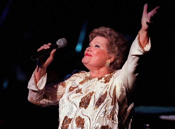Singer Patti Page performs at the Cerritos, California, Center for the Performing Arts in a November 1998 file image. Page died on January 1, 2013, in Ecinitas, California, at 85.