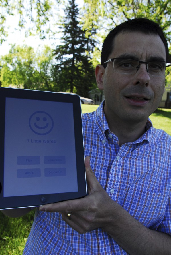 Christopher York, owner of Blue Ox Technologies Ltd. in Caribou, created the game app 7 Little Words.