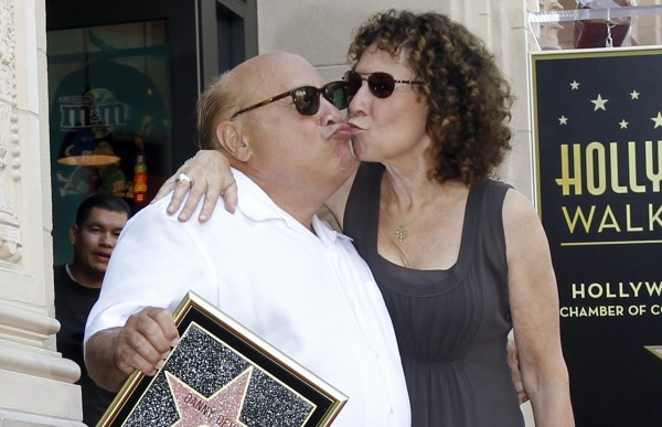Danny Devito, pictured here with then-wife Rhea Perlman in 2011, is on the list of people and organizations the NRA considers hostile.
