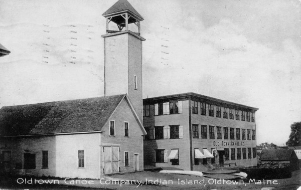 The Old Town Canoe Co. factory in the early 1900s.