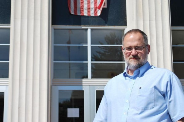 South Portland High School Principal James Holland stands outside the school in August 2011. Holland submitted his resignation on Friday, Feb. 8, 2013.