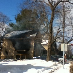 Midday fire causes severe damage to Saco home
