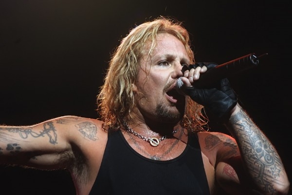 Motley Crue lead singer Vince Neil performs at the Del Mar Fairgrounds in San Diego in July 2007.