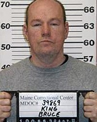 Bruce King in a mugshot taken by the Maine Department of Corrections, possibly in 2003.