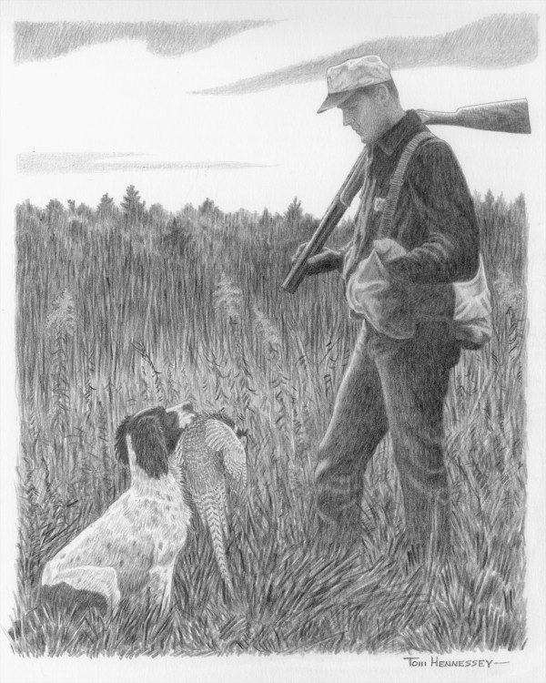 A hunter and his loyal dog, published in September 2003.