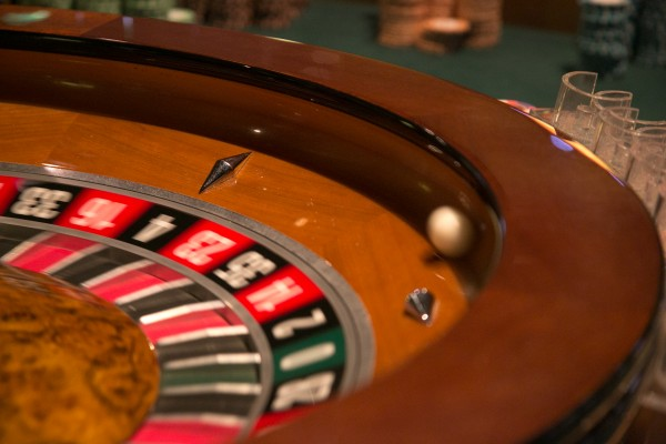 A ball spins around the roulette wheel at the Hollywood Casino on Friday, March 15, 2013.