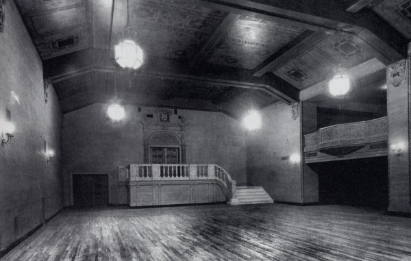 The Eastland Park Hotel's ballroom as it appeared when the hotel opened in 1927. Though the hotel has been gutted to make way for the new Westin Portland Harborview Hotel, the ballroom's staircase has been preserved.