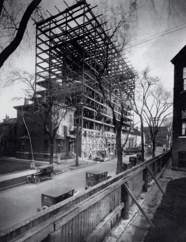 "A photo of the Eastland Park Hotel under construction in 1926. The Eastland is being gutted and will reopen in December 2013 as the Westin Portland Harborview Hotel. &quotThe bones of this building are absolutely amazing,"" said Bruce Wennerstrom, general manager of the new hotel."