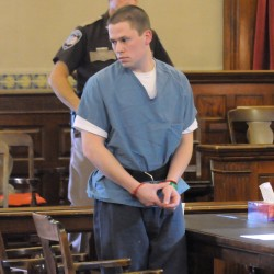 Daniel Porter of Jackson in the Waldo County Superior Court during his arraignment in June 2012.