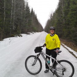 Spring riding in northern Maine means being prepared for all conditions. BDN writer Julia Bayly bundles up for a typical April training ride.