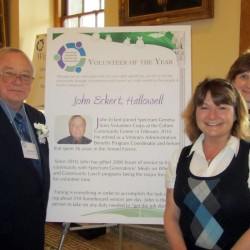 (l-r) John Eckert, wife Lisa Eckert, and nominator Lynda Johnson at the Governor's Award for Service and Volunteerism.