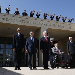 As his library opens, former President George W. Bush enjoys rise in popularity