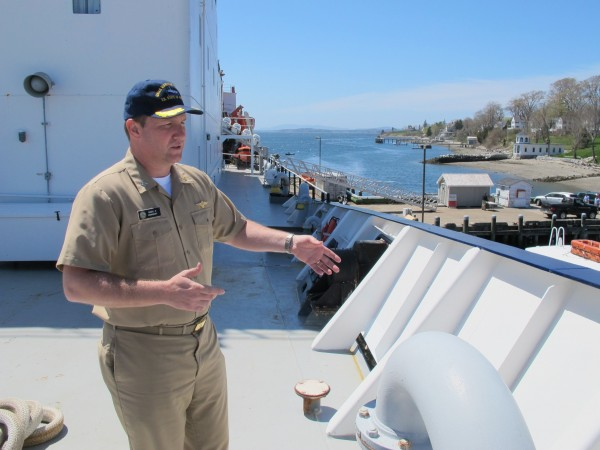 Capt. Nathan Gandy, commandant of the Training Ship State of Maine, on May 6, 2013.