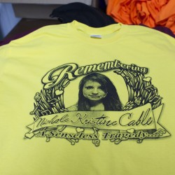 WorkStore, a screenprinting and embroidery company in Glenburn, has been making T-shirts and stickers in honor of Nichole Cable, the 15-year-old who went missing and was found dead earlier this week. Proceeds from the shirt sales will go to Nichole's family to help pay for funeral costs and other expenses.