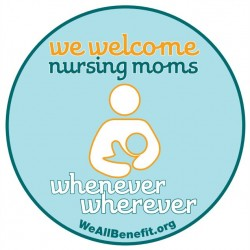 Portland businesses are being encouraged to display this decal to show nursing mothers they are places where breastfeeding is welcome. The city launched its &quotWherever, Whenever&quot campaign Wednesday morning, Aug. 1, 2012.