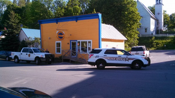 This pharmacy in Kingfield allegedly was robbed by Michelle Wilcox, 27, of Phillips on Monday. Wilcox was arrested.