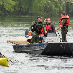 Brewer woman rescued from Pushaw Stream