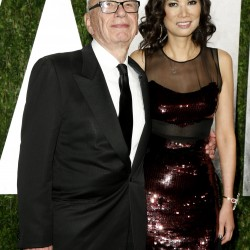 Rupert Murdoch and wife Wendi Deng attend the 2013 Vanity Fair Oscars Party in West Hollywood, California in this February 24, 2013 file photo.