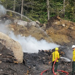 Family camp destroyed by fire on Green Lake