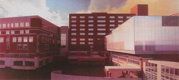 This rendering, submitted to the Portland Planning Board by representatives of Maine Health, depicts a 40,000-square-foot expansion of Maine Medical Center's L.L. Bean Building in Portland.