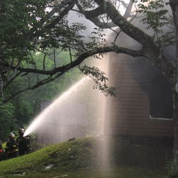 Firefighters battled a housefire in Winterport on Monroe Road on Friday evening. Crews from Winterport, Frankfort, Monroe and Newburgh responded to the fire.