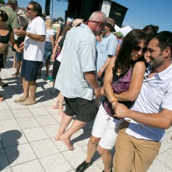 Fans dance during the North Atlantic Blues Festival in Rockport on Saturday, July 20, 2013.