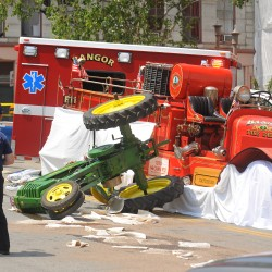 A man died in an accident during the Fourth of July parade in Bangor.
