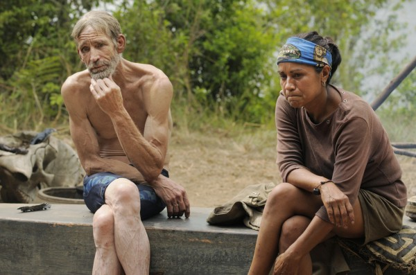 Robert Crowley and  Susie Smith are seen during an episode of Survivor: Gabon, Earth's Last Eden.