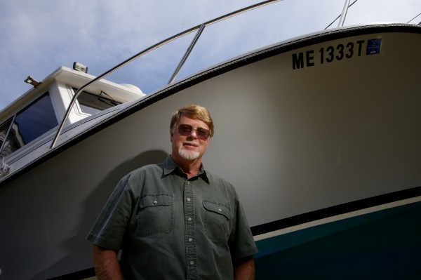 Jeff Wheeler would like to use his boat to haul lobster traps with a recreational license, but his bum shoulder prevents it. Next week, he's traveling to Thailand for surgery to fix it.