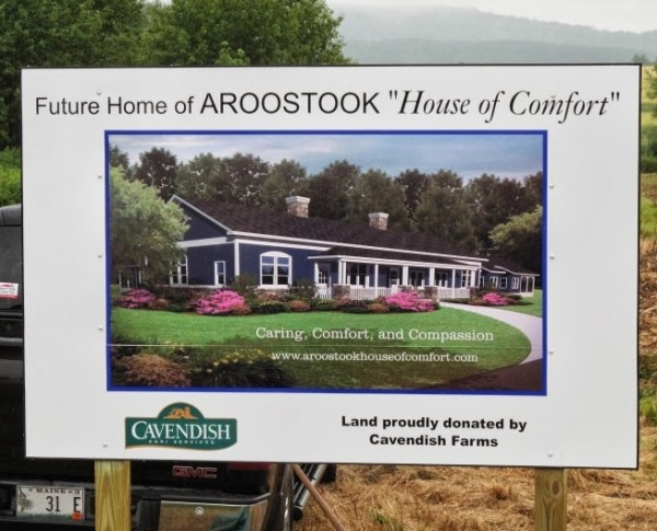 Five acres of donated land for the future site of the Aroostook County hospice House of Comfort was dedicated Tuesday morning in Presque Isle.