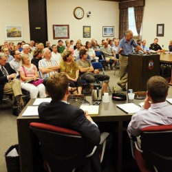 Bangor City Council chambers were full on Monday night as the council listened to public comment on the noise pollution generated by recent music festivals along the Bangor Waterfront.