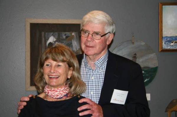 C.A. Porter Hopkins and his wife, Patti, also an artist, at the Gilley members' reception.