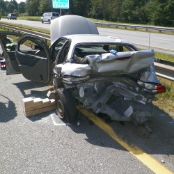 Serious accident shuts down I-95 North for 6 miles, LifeFlight needed